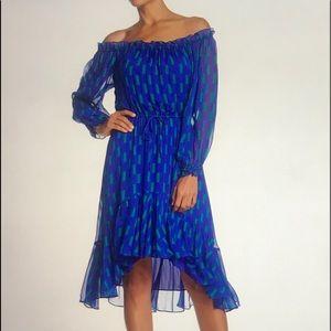Diane Von Furstenberg Camila Silk  Electric Blue